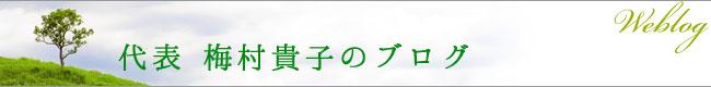 代表 梅村貴子のブログ